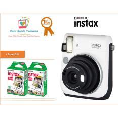 Bộ máy ảnh chụp lấy ngay Fujifilm Instax mini 70 (trắng) + Bộ film Fujifilm instax mini (20 tấm)
