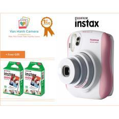 Bộ máy chụp ảnh lấy ngay Fujifilm Instax Mini 25 (Hồng)+ Hộp phim Fujifilm Instax Mini 20 tấm