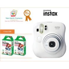 Bộ máy chụp ảnh lấy ngay Fujifilm Instax Mini 25 (Trắng) tặng Hộp phim Fujifilm Instax Mini 20 tấm – Hãng phân phối chính thức