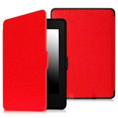 Bộ máy đọc sách Kindle paper AMAZON 2015 (Đen) và Bao da Kindle Paperwhite 2015 (Đỏ) – Hàng nhập khẩu