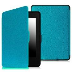 Bộ máy đọc sách Kindle paper AMAZON 2015 (Đen) và Bao da Kindle Paperwhite 2015 (Xanh Da Trời) – Hàng nhập khẩu