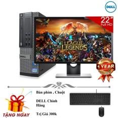 Bộ máy tính để bàn Dell Optiplex 790 ( Core i3 / 4gb / 250gb ) Và Màn Hình Dell 22′ inch – Quà tặng combo bàn phím chuột dell , usb Wifi – Bảo hành 24 tháng.