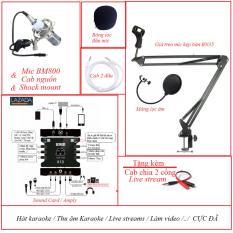Bộ mic thu âm – BM 800 + Soundcard XOX K10 + Combo Full phụ kiện – Ghi âm