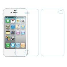 Bộ Miếng dán cường lực hai mặt iPhone 4/4s (AB) (Trong suốt)