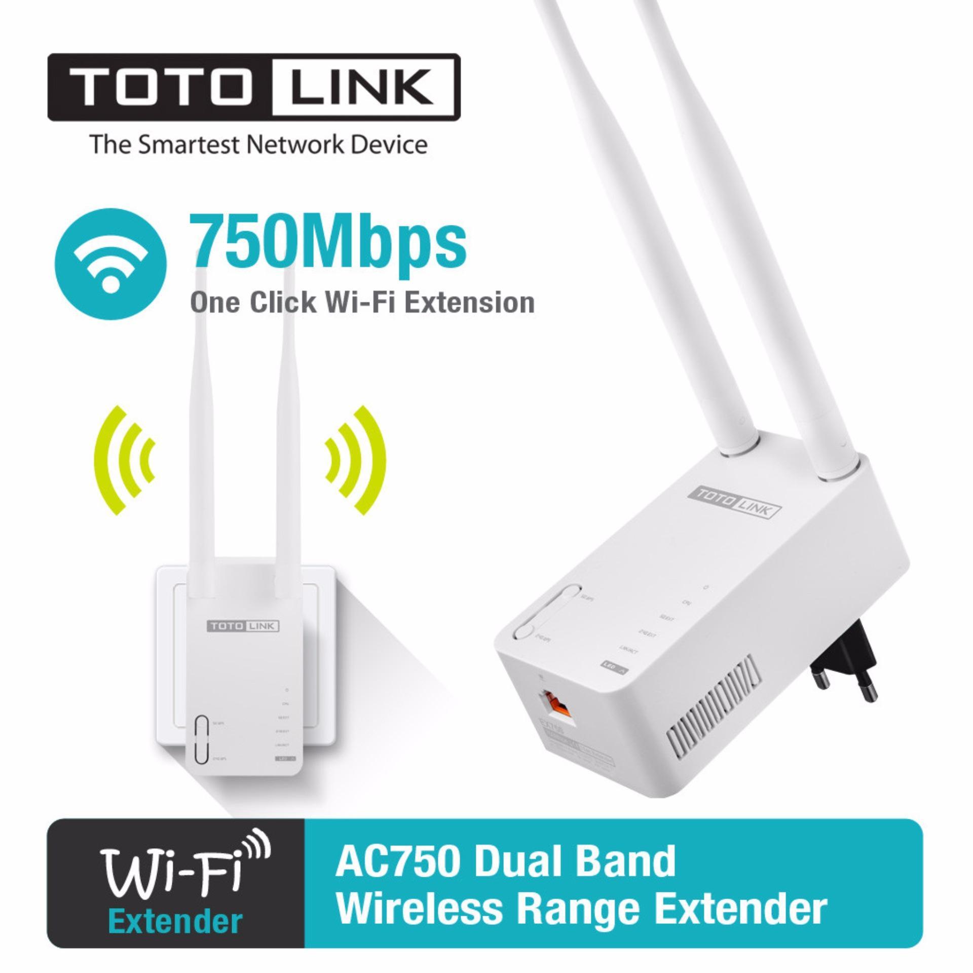 Bộ mở rộng sóng wifi băng tần kép Totolink chuẩn AC750 EX750