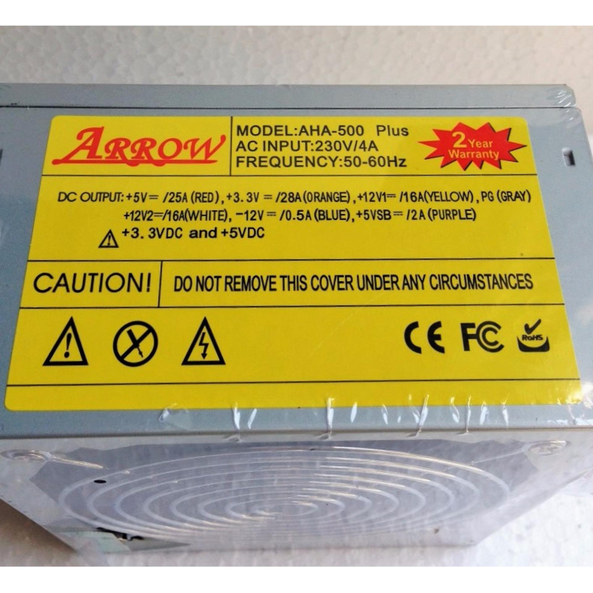 Bộ Nguồn Vi Tính PC ARROW AHA-500 Plus