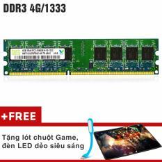 Bộ nhớ Ram PC Hynix (4GB, DDR 3, Bus 1333Mhz) Siêu Bền + Quà Tặng