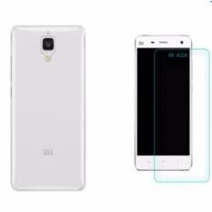 Bộ ốp lưng silicon và kính cường lực cho Xiaomi Mi4