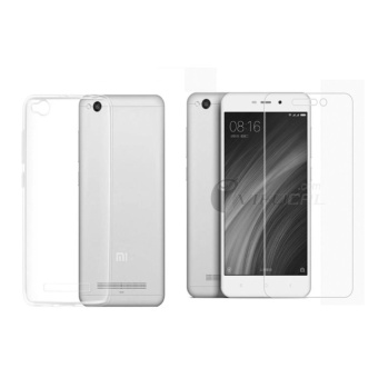 B p lng silicon Xiaomi Redmi 4A (Trng) + Knh cng lc 2.5D ( Trong)