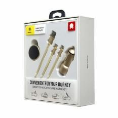 Trang bán Bộ phụ kiện di động cao cấp trên xe hơi Baseus Kit (Sạc + Giá đỡ nam châm + cáp 2 đầu Lightning/Micro USB)