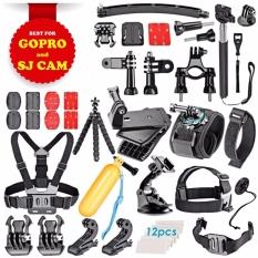Bộ phụ kiện GOPRO, SJCAM 50 in 1 cao cấp POPO + Free 1 phao nổi