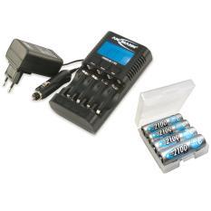 Bộ sạc ANSMANN POWERLINE 4 PRO kèm 04 pin 2100 MaxE