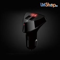 Trang bán Bộ sạc đa năng dùng cho xe hơi 2 cổng USB 3.4A tích hợp LED hiển thị điện áp Remax RCC-208