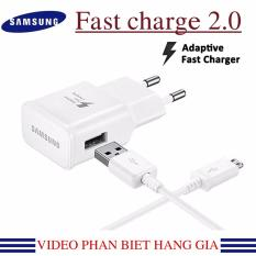 Bộ sạc nhanh Fast Charge Samsung Galaxy S4; S5; S6 ;S7 Note 5; Note 6 ; Note 7 2016 (Trắng)