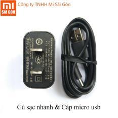 Bộ sạc nhanh Xiaomi cáp micro usb Quick Charge 3.0