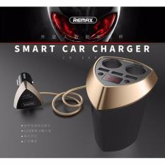 Bộ sạc và chia tẩu trên ô tô, xe hơi Remax CR-3XP(Gold)