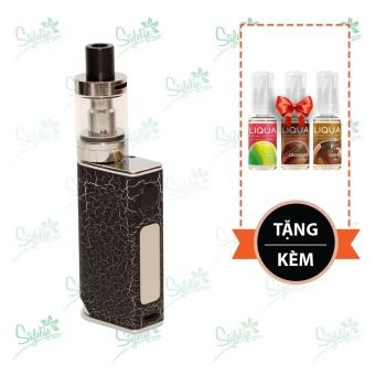 Bộ sản phẩm thuốc lá điện tử (vape) Ovancl P9 (Black) tặng 3 lọ tinh dầu New Liqua 10ml vị Táo, Chocolate, Cà phê