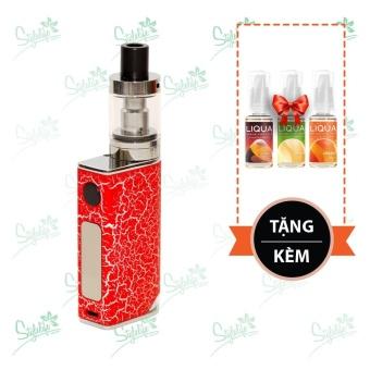 Bộ sản phẩm thuốc lá điện tử (vape) Ovancl P9 (Red) tặng 3 lọ tinh dầu New Liqua 10ml vị Cam thảo, Dưa vàng, Cam