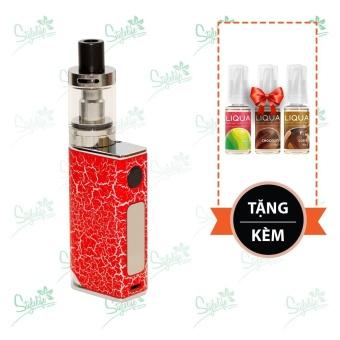 Bộ sản phẩm thuốc lá điện tử (vape) Ovancl P9 (Red) tặng 3 lọ tinh dầu New Liqua 10ml vị Táo, Chocolate, Cà phê