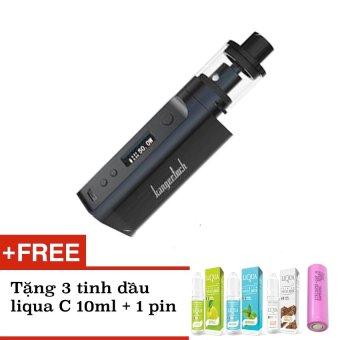 Bộ sản phẩm thuốc lá - Vape - Shisha điện tử SUBOX Mini-C 2016 đen + tặng kèm 3 tinh dầu Liqua C 10ml + 1 pin 18650