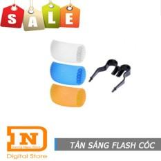 Bộ tản sáng 3 màu cho đèn flash cóc JYC (Đen)