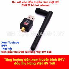 Chỗ bán Bộ thu sóng wifi 802.IIN cho đầu thu DVB T2 Hùng Việt HD 168 tặng sách hướng dẫn xem truyền hình bằng IPTV