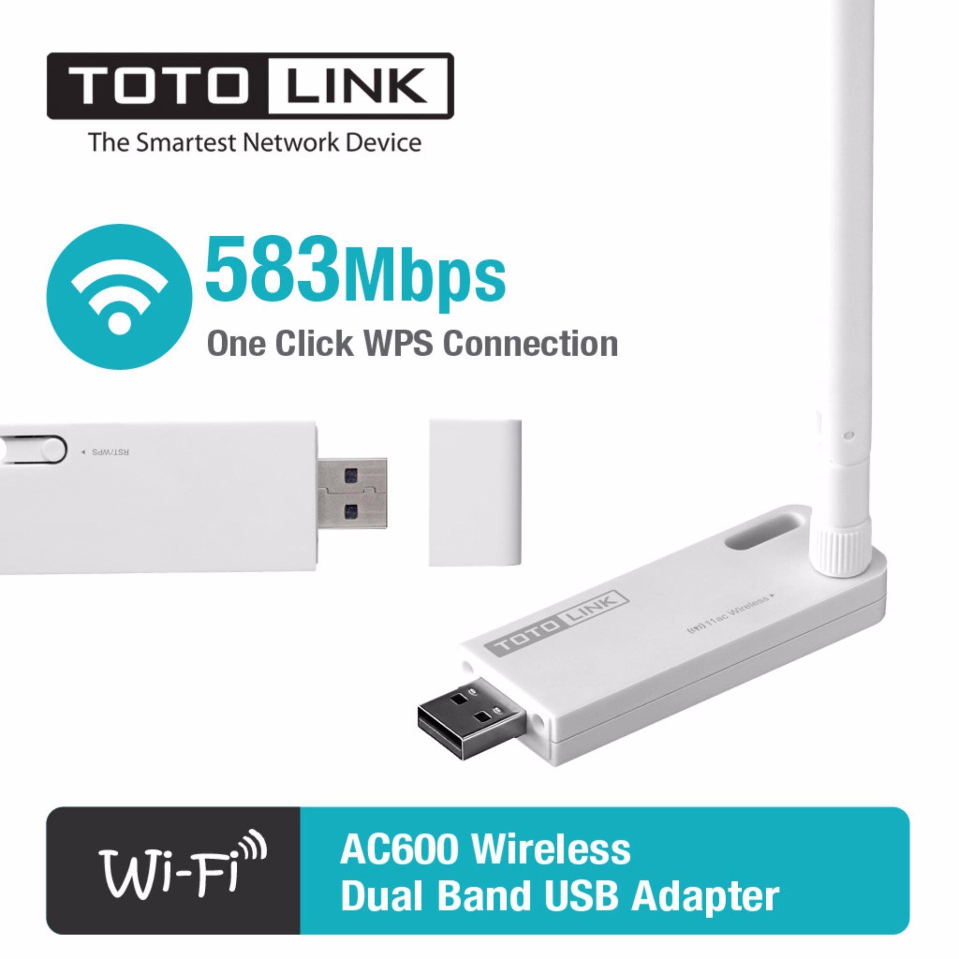 Bộ thu sóng Wifi USB băng tần kép TOTOLINK A1000UA