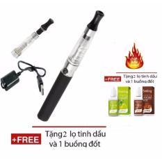 Bộ thuốc lá điện tử Shisha Cao Cấp EGO CE4 + Tặng kèm 2 tinh dầu + 1 buồng đốt + 1 đầu hút (Black)