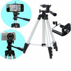 Bộ Tripod chân chụp ảnh 1020mm và giá đỡ điện thoại (Xám bạc)