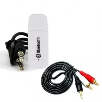 Bộ USB Bluetooth kết nối Loa Thường thành loa không dây (Đen) + Jack chuyển 3.5 sang AV