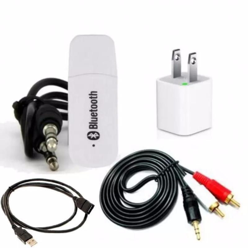 Bộ USB Bluetooth Wireless DMZMusic Receiver BaoNhi tạo kết nối bluetooth cho amply và loa (Trắng)