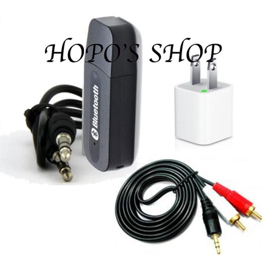 Bộ USB Bluetooth Wireless DMZMusic Receiver tạo kết nối bluetooth cho amply và loa (Trắng)