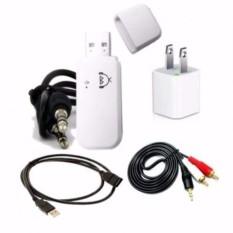 Bộ USB thu bluetooth 4.0 Music Receiver âm thanh cao cấp + tặng cáp USB nối dài và jack bông sen