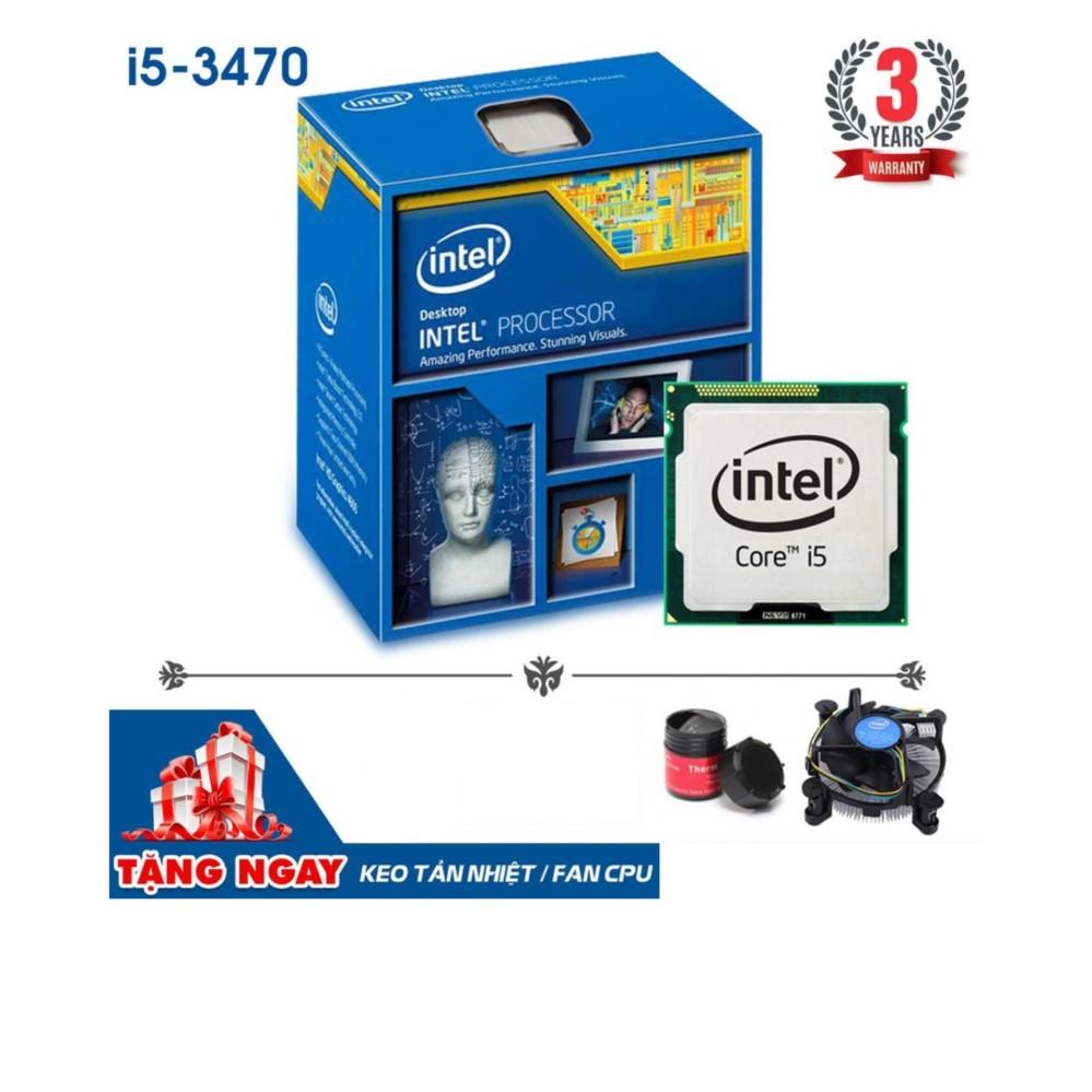 Bộ vi xử lý Intel CPU Core i5 3470 3.6GHz (4 lõi, 4 luồng) + Tặng keo tản nhiệt + Fan CPU ZIN- Hàng Nhập Khẩu Đang Bán Tại Máy Tính Bảo Ngọc
