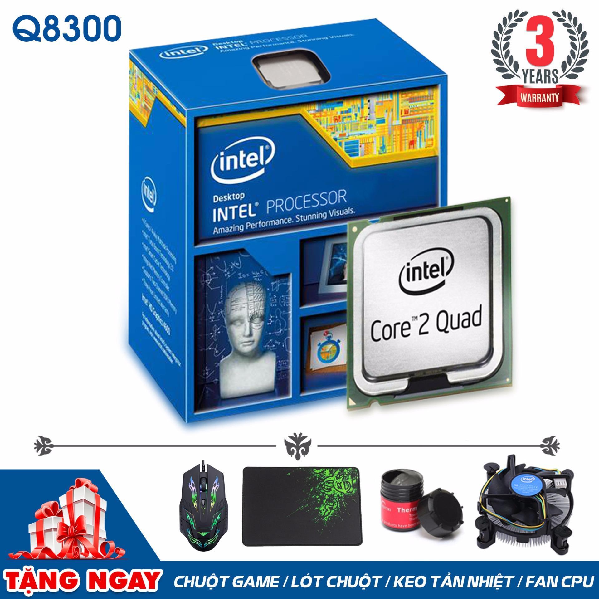 Bộ vi xử lý Intel CPU Core 2 Quad Q8300 (4 lõi, 4 Luồng) + Quà Tặng - Hàng Nhập...