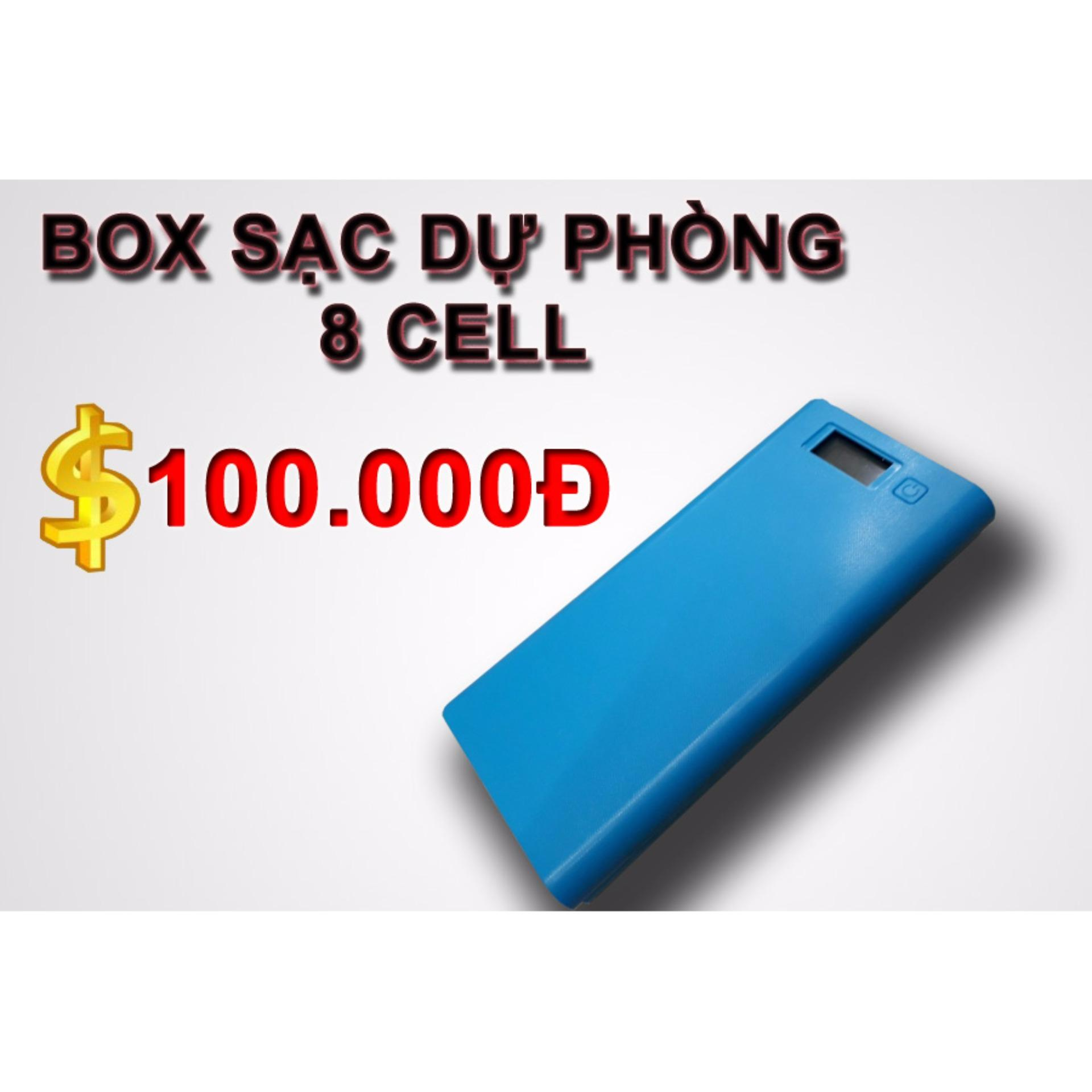 Box sạc dự phòng 8 cell LCD