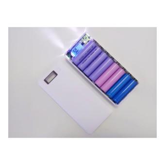 Box sạc dự phòng 8 khe pin dùng pin 18650 (Trắng, chưa pin)