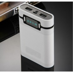 Box sạc pin 18650 màn kỹ thuật số 4 khe pin (Trắng, chưa pin)