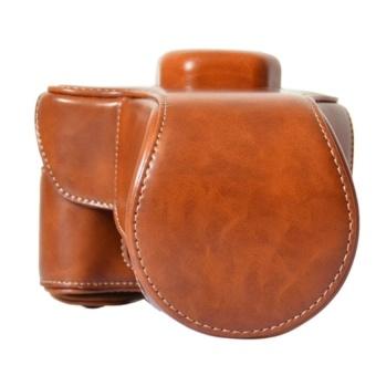 Brown PU Leather Camera Bag Case Cover for Fujifilm Fuji XT10 X-T10- intl