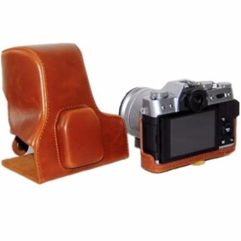 Brown PU Leather Camera Bag Case Cover for Fujifilm FujiXT10X-T10(Intl) - intl