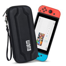 BUBM Cứng EVA Túi Đeo Khóa Kéo Tay cho Nintendo Switch Tay Cầm & Phụ Kiện-Đen-quốc tế