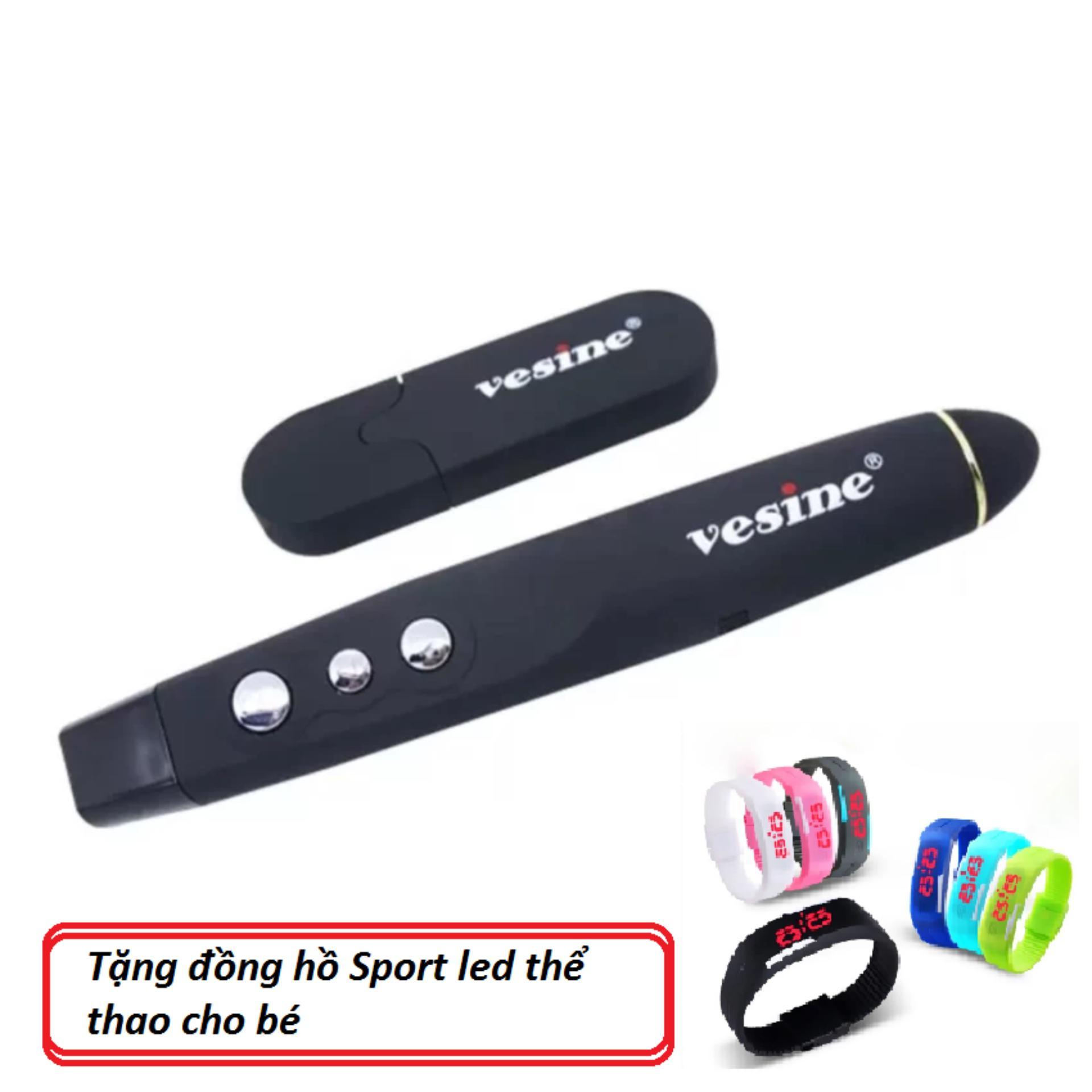 Cửa hàng bán Bút trình chiếu powerpoint Vesine VP101 tặng đồng hồ sport led thể thao cho bé