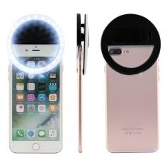 BUYINCOINS Cao Cấp Sáng Selfie Flash Máy Ảnh Điện Thoại Vòng LED Cho Điện Thoại Thông Minh (Màu Đen)-quốc tế Cực Rẻ Tại BUY IN COINS
