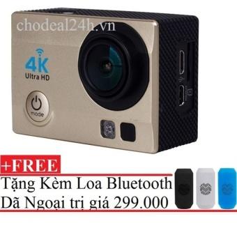 Camera hành động Waterproof ACTION CAMERA WIFI MultiPurpose 4K ULTRA HD (Đồng)++ Tặng Loa Bluetooth Dã Ngoại J16