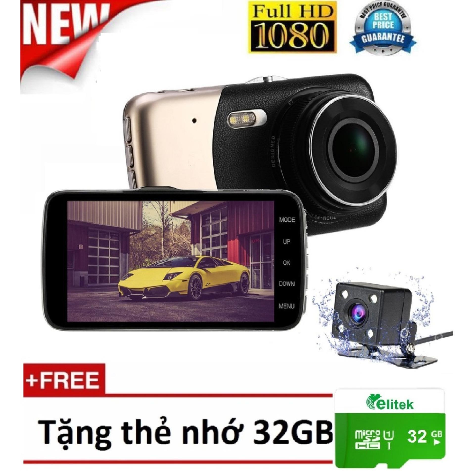 Camera Hành Trình – Camera Lùi Ghi Hình Siêu Full HD 1080P 2560 Nét Free Thẻ 32GB