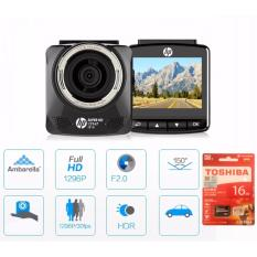 Camera hành trình cao cấp dành cho ô tô HP F515 độ nét cao 1296P + thẻ toshiba xịn 16G