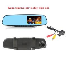 Camera hành trình gương kết hợp Camera lùi