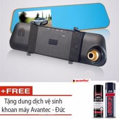 Camera hành trình gương kết hợp Camera lùi + tặng kèm dung dịch vệ sinh khoan máy avantec Đức