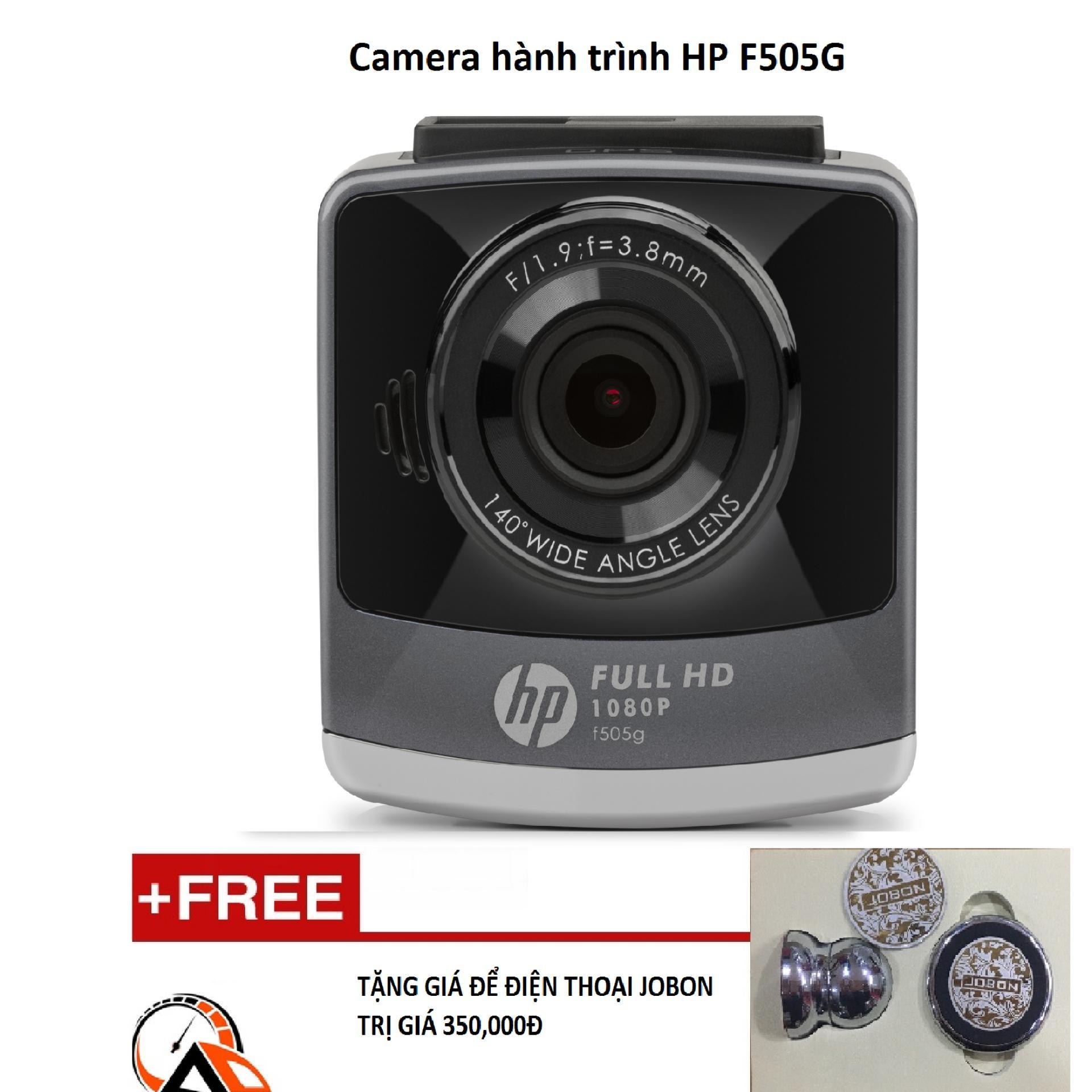 Camera hành trình HP F505G (Đen)+Tặng thẻ 32G+giá đỡ điện thoại – Hãng Phân phối chính thức