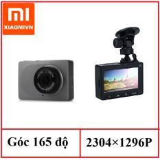 Camera hành trình xe hơi ô tô Xiaomi Yi Dashcam Smart Car DVR Bản Tiếng anh 165 độ 2k (Xám)